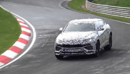 Lamborghini Urus spotted again, looks nimbler (video)