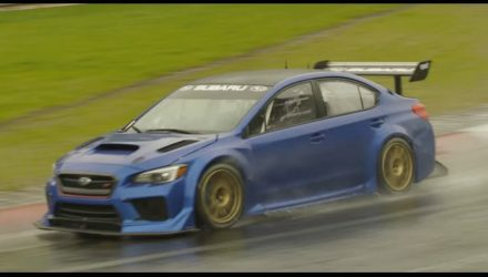 New Subaru WRX STI Type RA previewed, with NBR racer (video)
