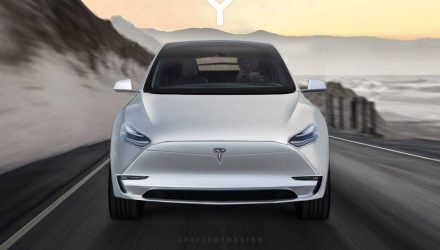 Tesla Model Y rendered, based on teaser (video)