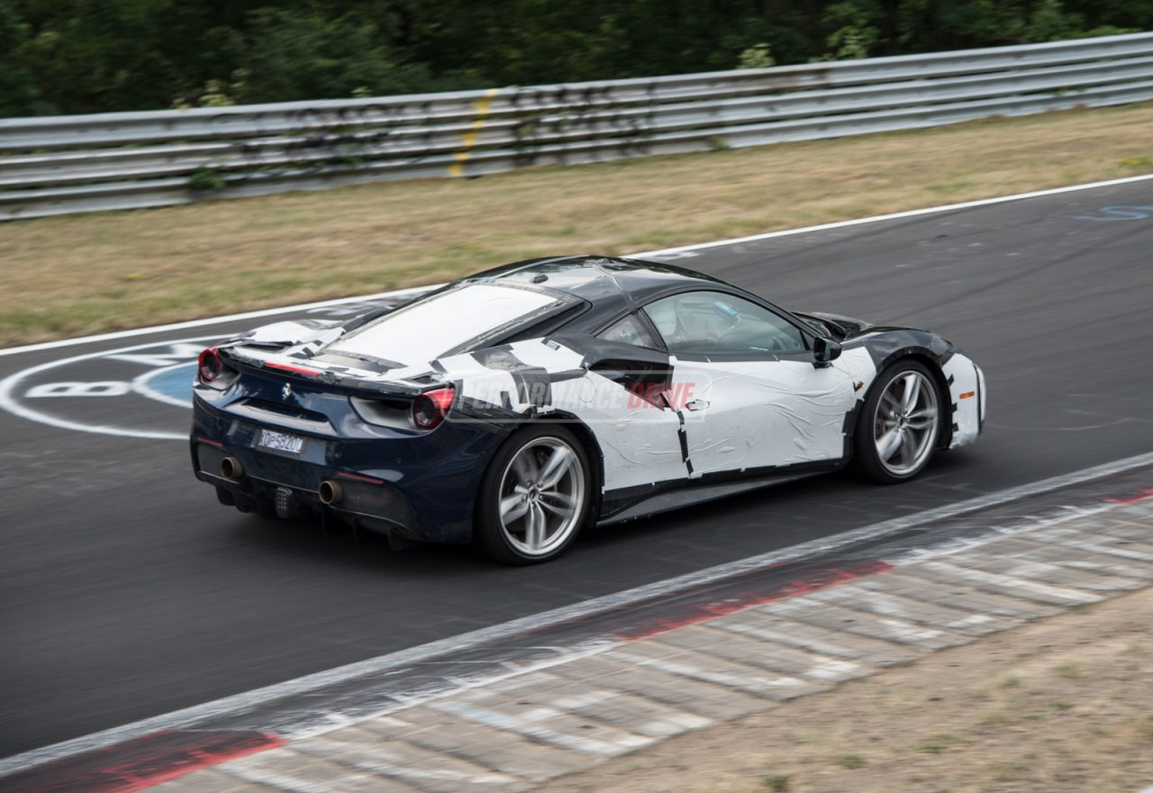ferrari 488 39 gto 39 spotted with 812 superfast kers prototype video performancedrive. Black Bedroom Furniture Sets. Home Design Ideas
