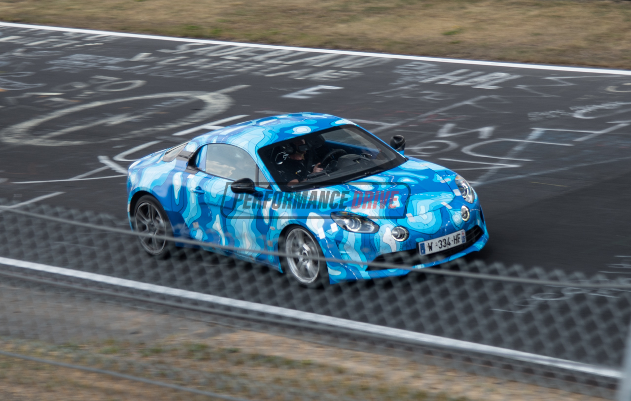2018 alpine a110 spotted testing at nurburgring video performancedrive. Black Bedroom Furniture Sets. Home Design Ideas