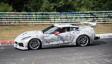 2018 Chevrolet Corvette ZR1 spotted, with (loud) LT5 DOHC V8? (video)