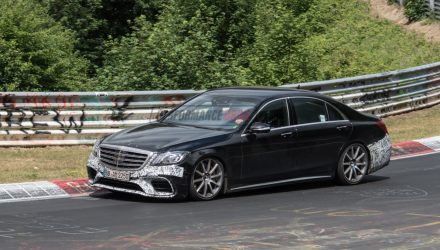 2018 Mercedes-AMG S 63 prototype spied, still testing on Nurburgring (video)