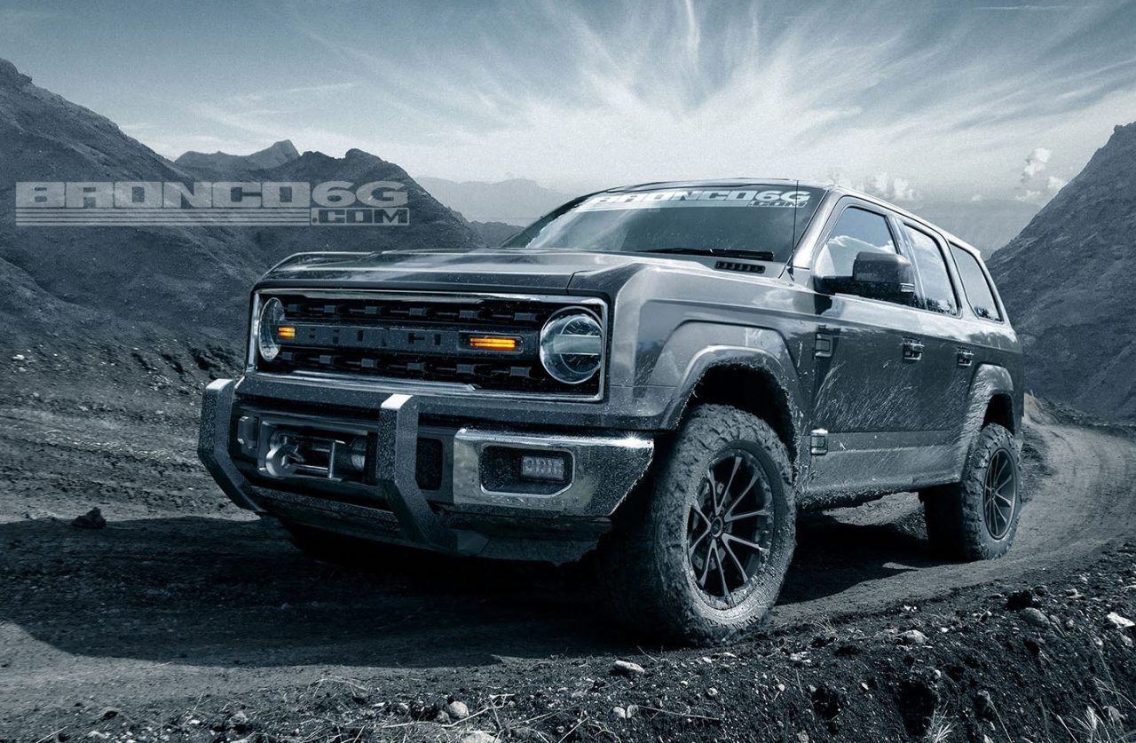 New Ford Bronco To Be 4-door Only, Renderings Show