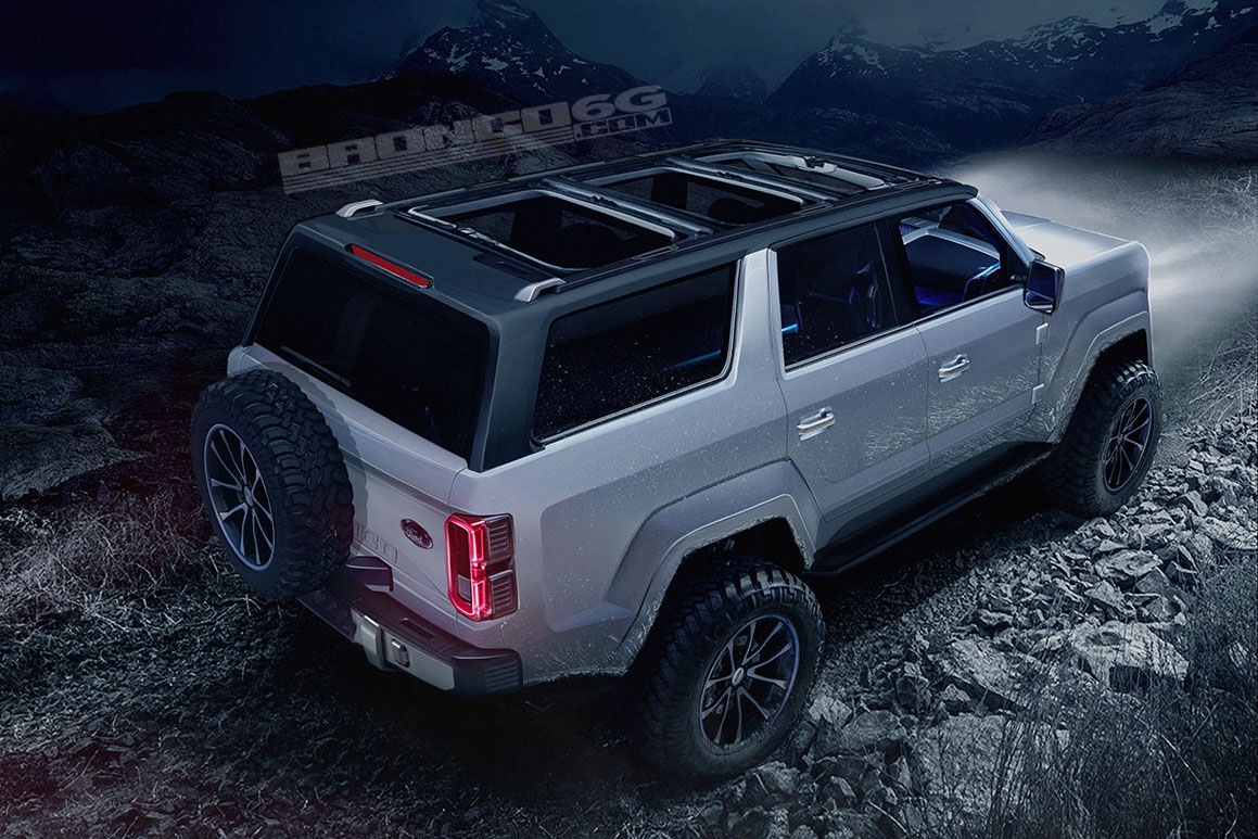 new ford bronco to be 4 door only renderings show potential performancedrive. Black Bedroom Furniture Sets. Home Design Ideas