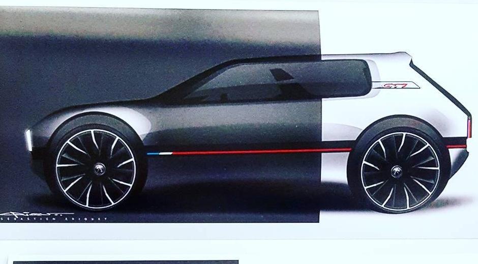 peugeot design director envisions modern 205 gti performancedrive. Black Bedroom Furniture Sets. Home Design Ideas