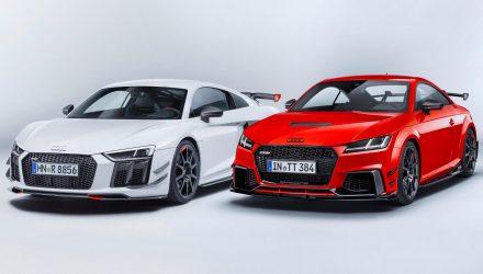 Audi Sport announces racy Performance Parts accessories for TT & R8