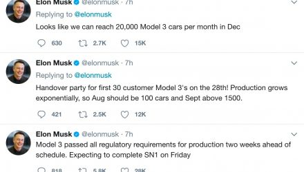 Tesla Model 3 production to hit 20,000 by December