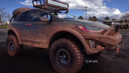 Tesla Model X render shows serious 4×4 potential