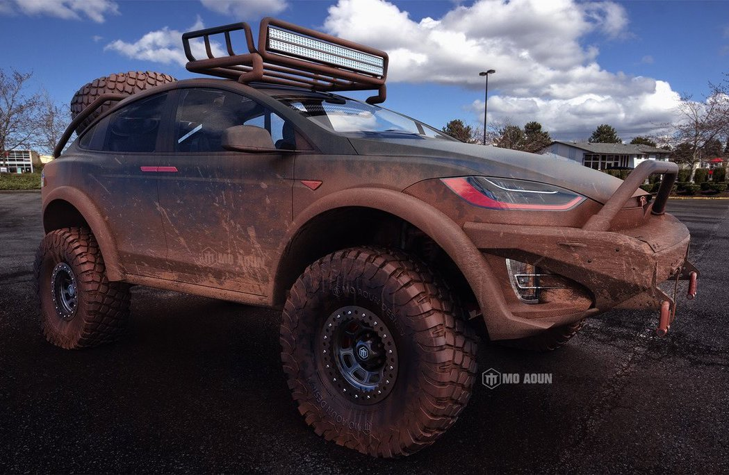 Tesla Model X Render Shows Serious 4x4 Potential