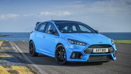 2017 Ford Focus RS Limited Edition for Australia, adds Quaife LSD
