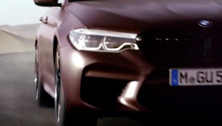2018 BMW M5 previewed; First Edition, 10.5L/100km confirmed (video)