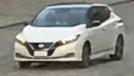 2018 Nissan LEAF spotted during promo shoot, design revealed