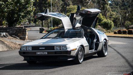 DeLorean with Chev LS V8 conversion: 0-100km/h & engine sound (video)