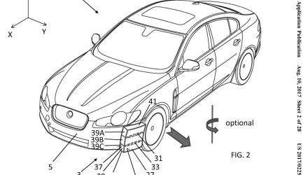 Jaguar Land Rover air guide patent