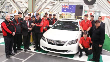 Last Toyota Aurion made in Australia rolls off production line