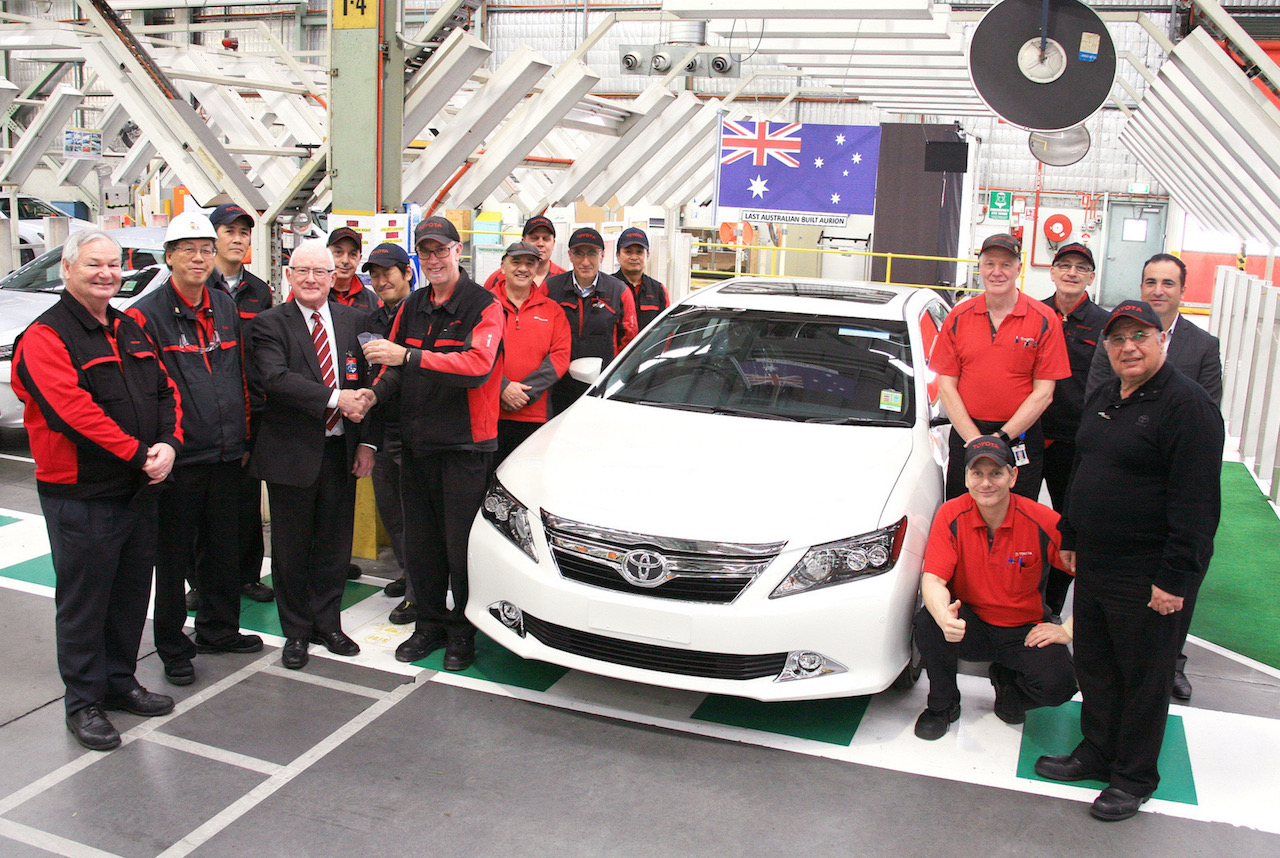 Last Toyota Aurion made in Australia rolls off production line ...