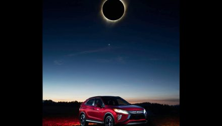 Mitsubishi Eclipse Cross poses with solar eclipse, ultimate PR stunt