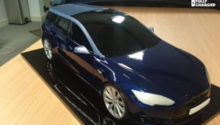 Special one-off Tesla Model S wagon being made