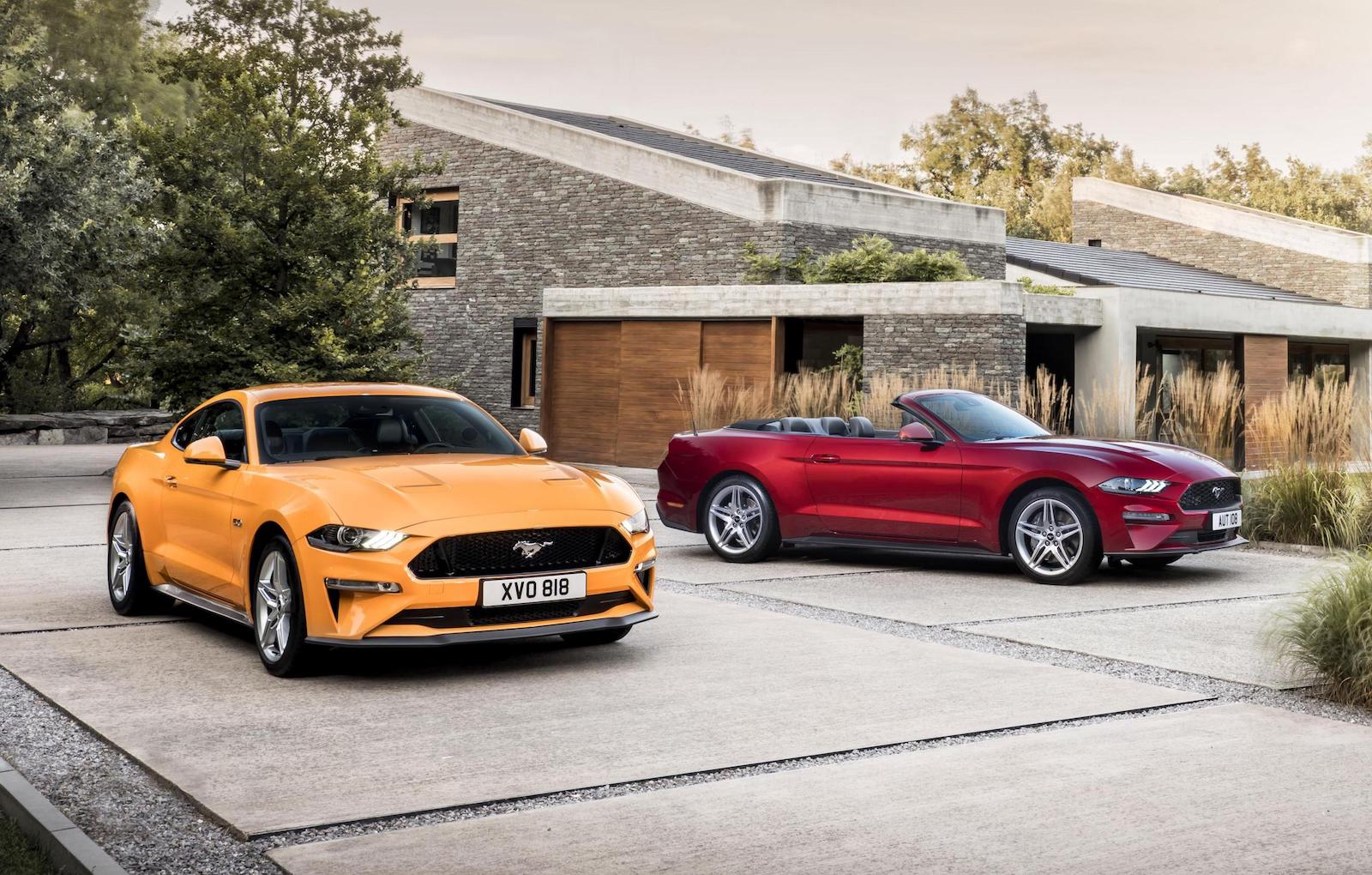euro spec  ford mustang unveiled  power   performancedrive