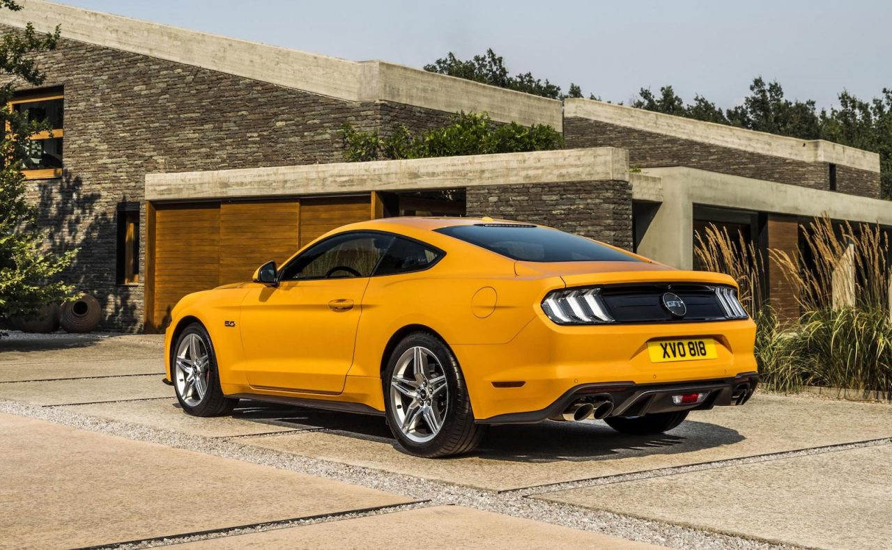 euro spec 2018 ford mustang unveiled more power for v8. Black Bedroom Furniture Sets. Home Design Ideas