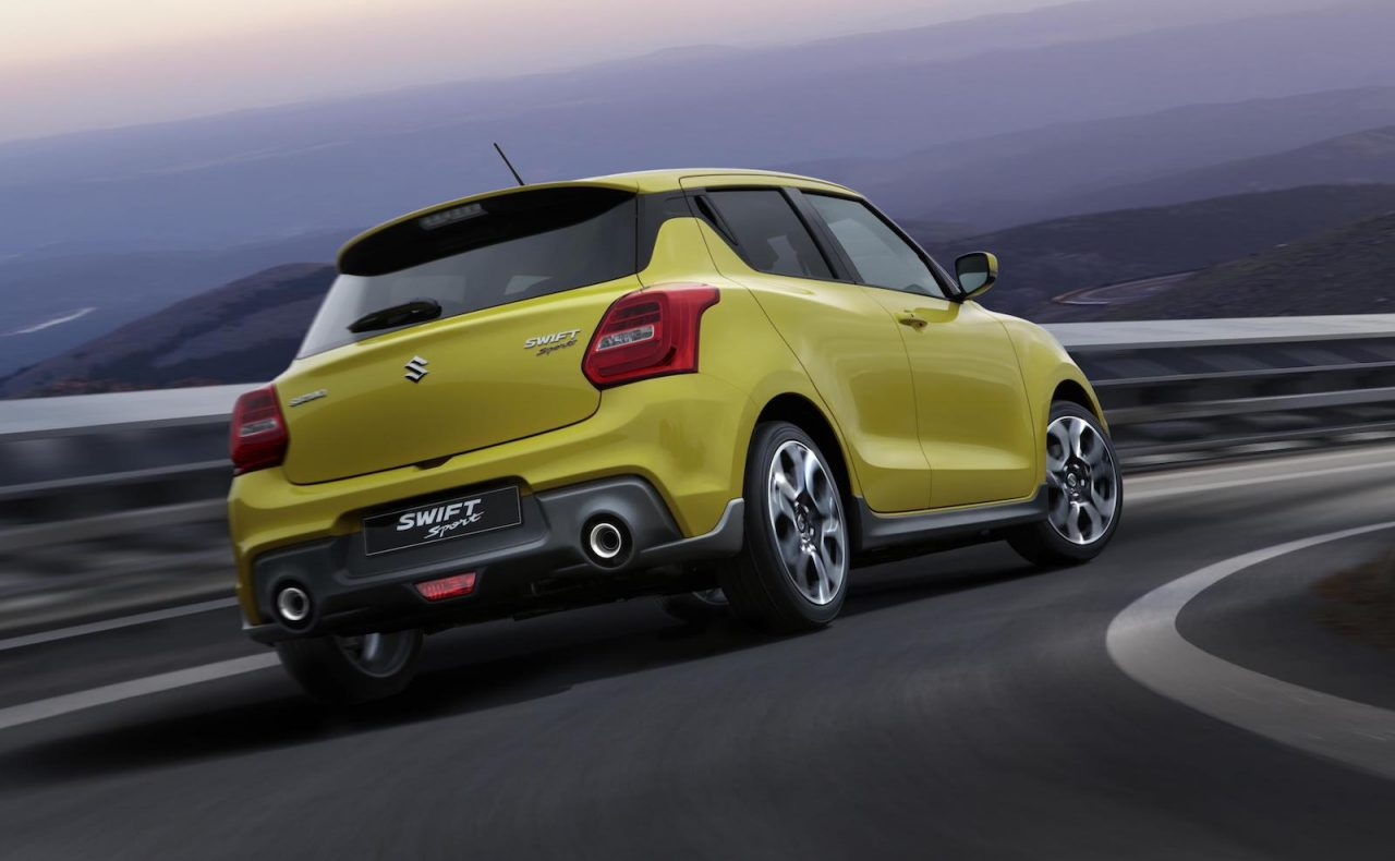 2018 suzuki swift sport debuts at frankfurt show with 1 4t performancedrive. Black Bedroom Furniture Sets. Home Design Ideas
