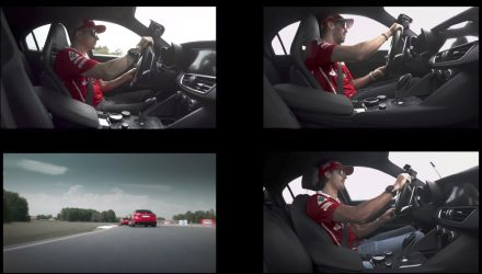 Vettel & Raikkonen crack a smile in the Alfa Romeo Giulia QV (video)