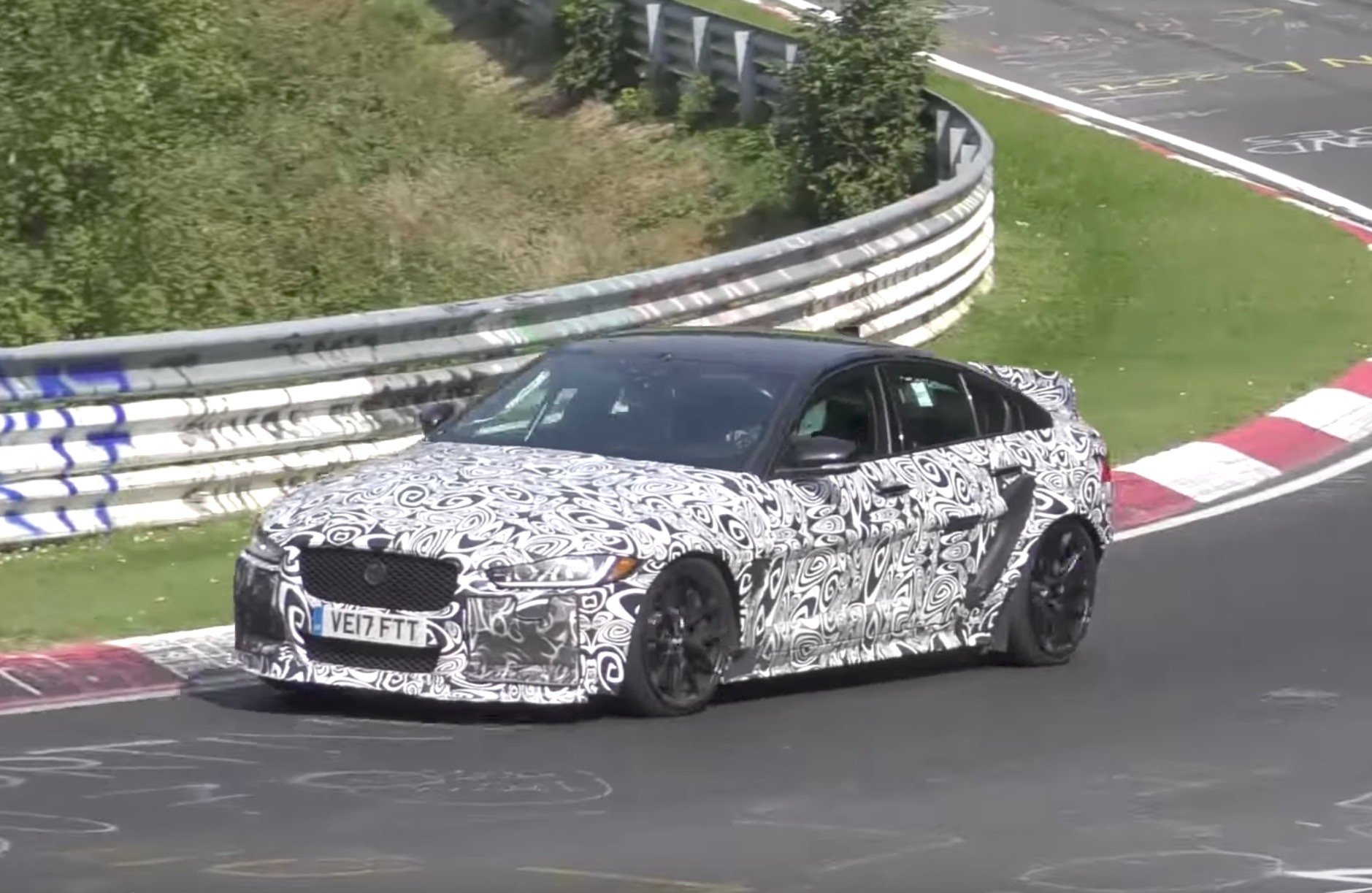 Jaguar Has Been Spotted Out And About On The Nurburgring Thrashing A  Prototype Version Of The Almighty Jaguar XE SV Project 8, Potentially  Gunning For A Lap ...
