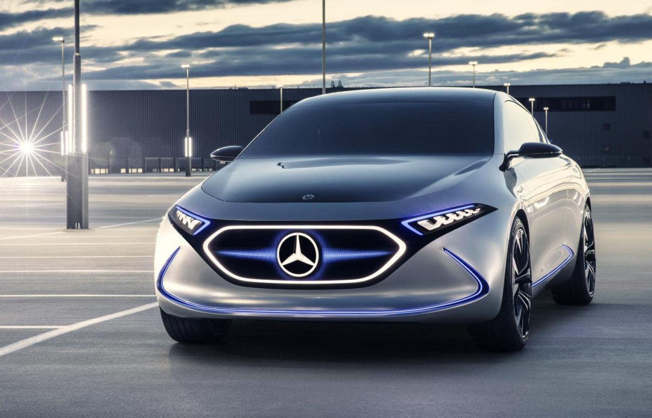 Mercedes benz previews future small ev with eqa concept for Upcoming mercedes benz models