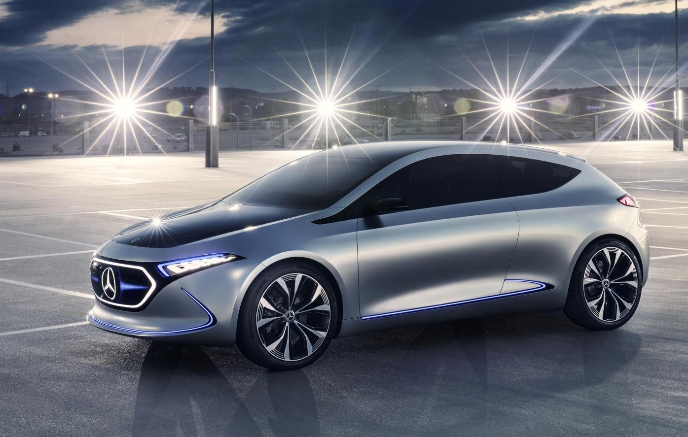 Mercedes benz previews future small ev with eqa concept for Mercedes benz small car