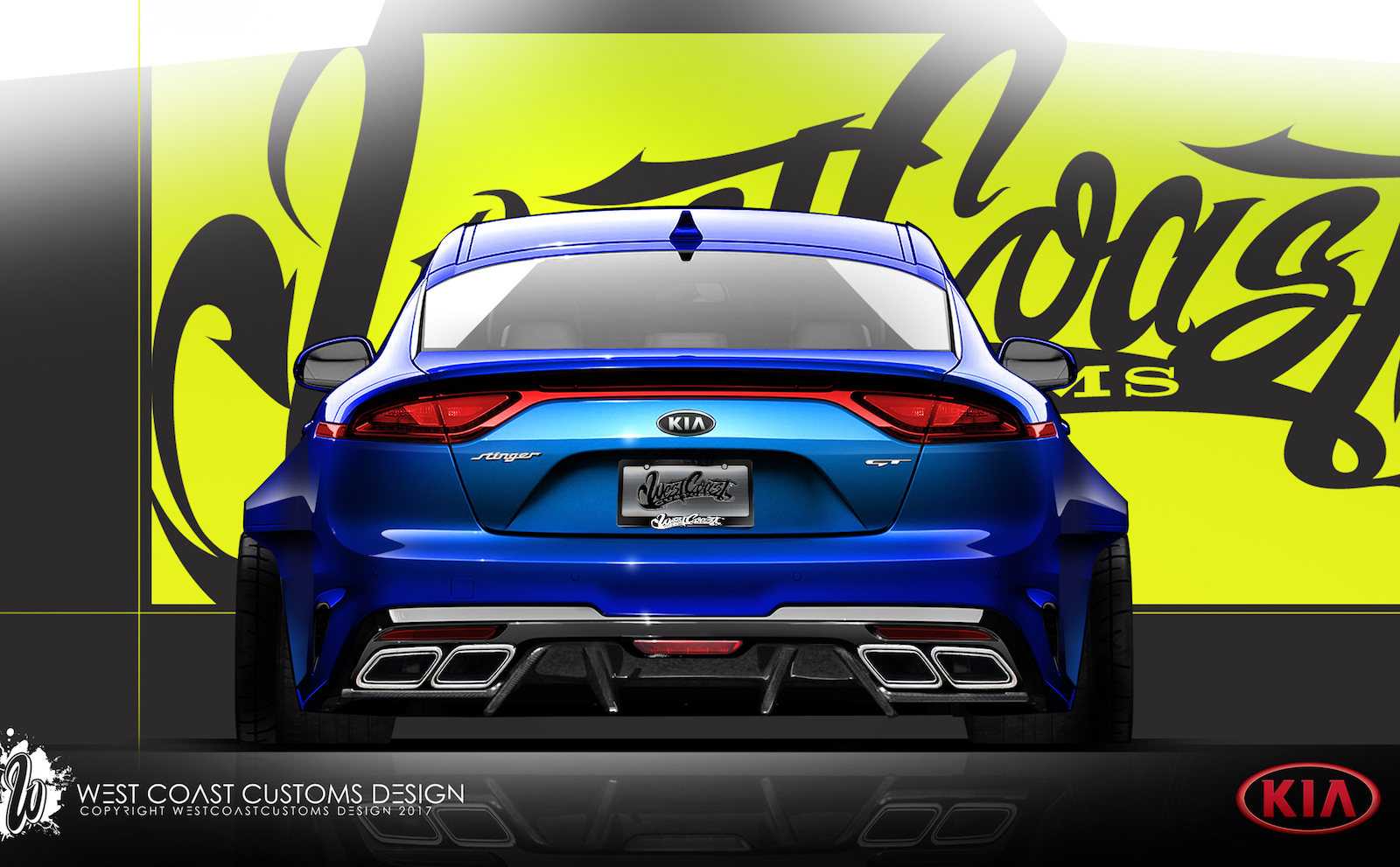 sema bound kia stinger project shows off tuning potential. Black Bedroom Furniture Sets. Home Design Ideas
