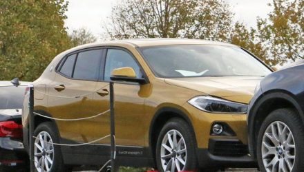 BMW X2 production model spotted during transport