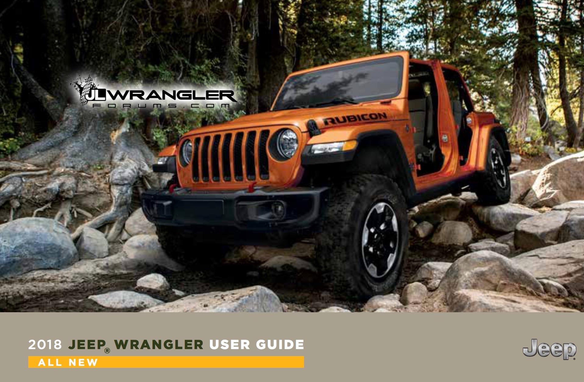 2018 Jeep Wrangler user guide leaked, 2.0L engine confirmed ...
