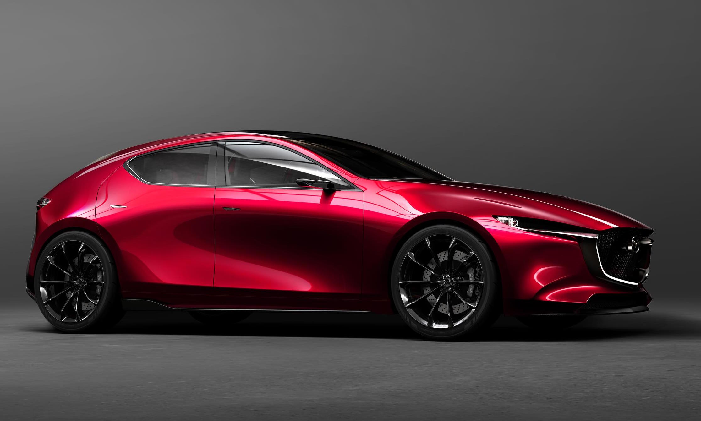 2018 mazda3 previewed with stunning kai concept performancedrive. Black Bedroom Furniture Sets. Home Design Ideas