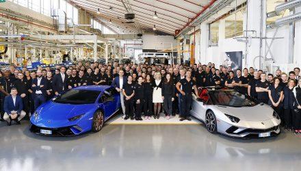 Lamborghini Aventador production hits 7000, Huracan 9000