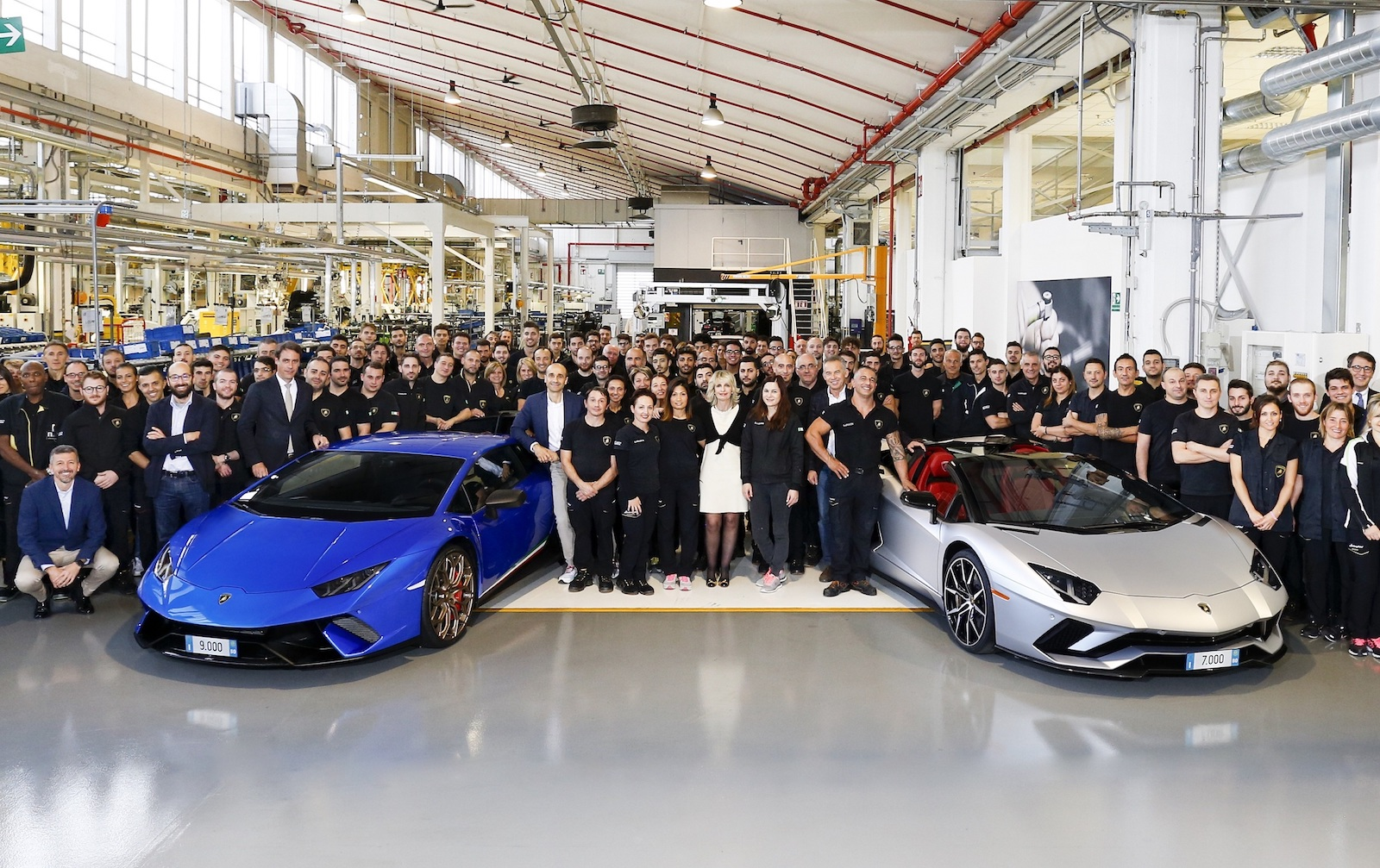 Lamborghini Aventador, Huracan hit production milestones