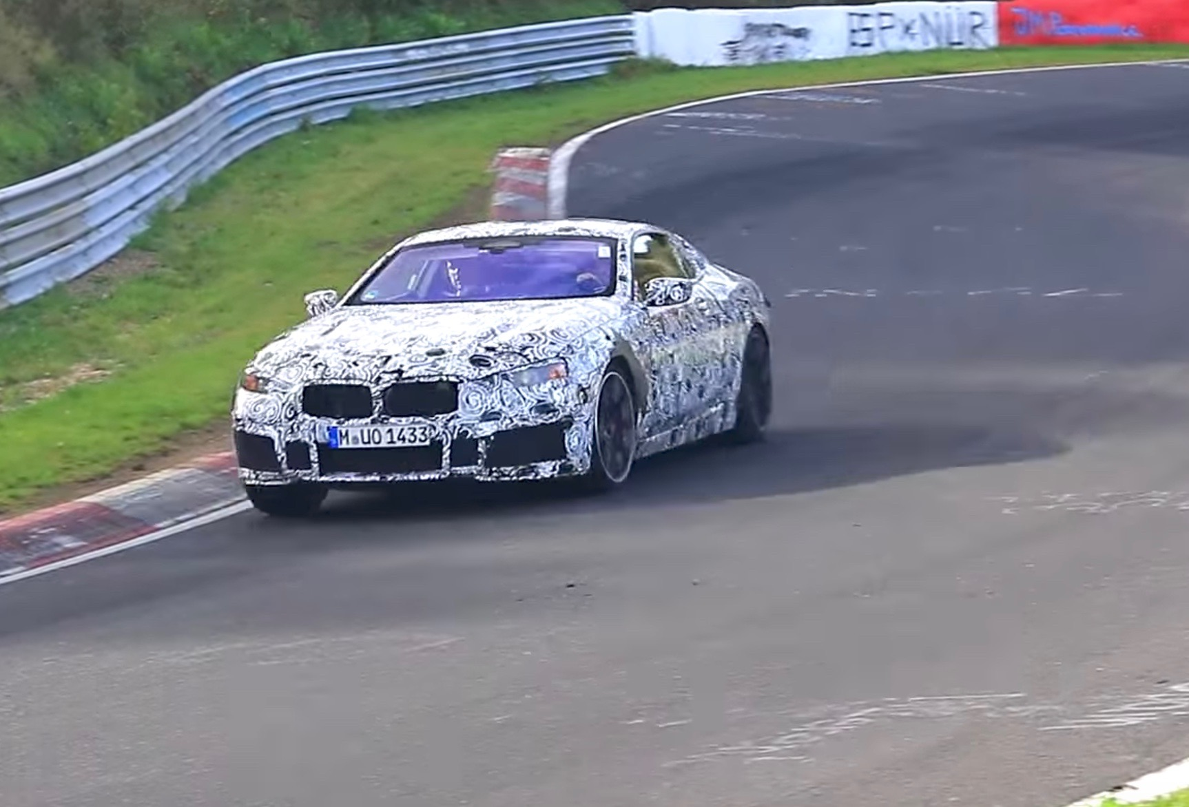 2018 bmw m8 850i spied at the nurburgring video performancedrive. Black Bedroom Furniture Sets. Home Design Ideas