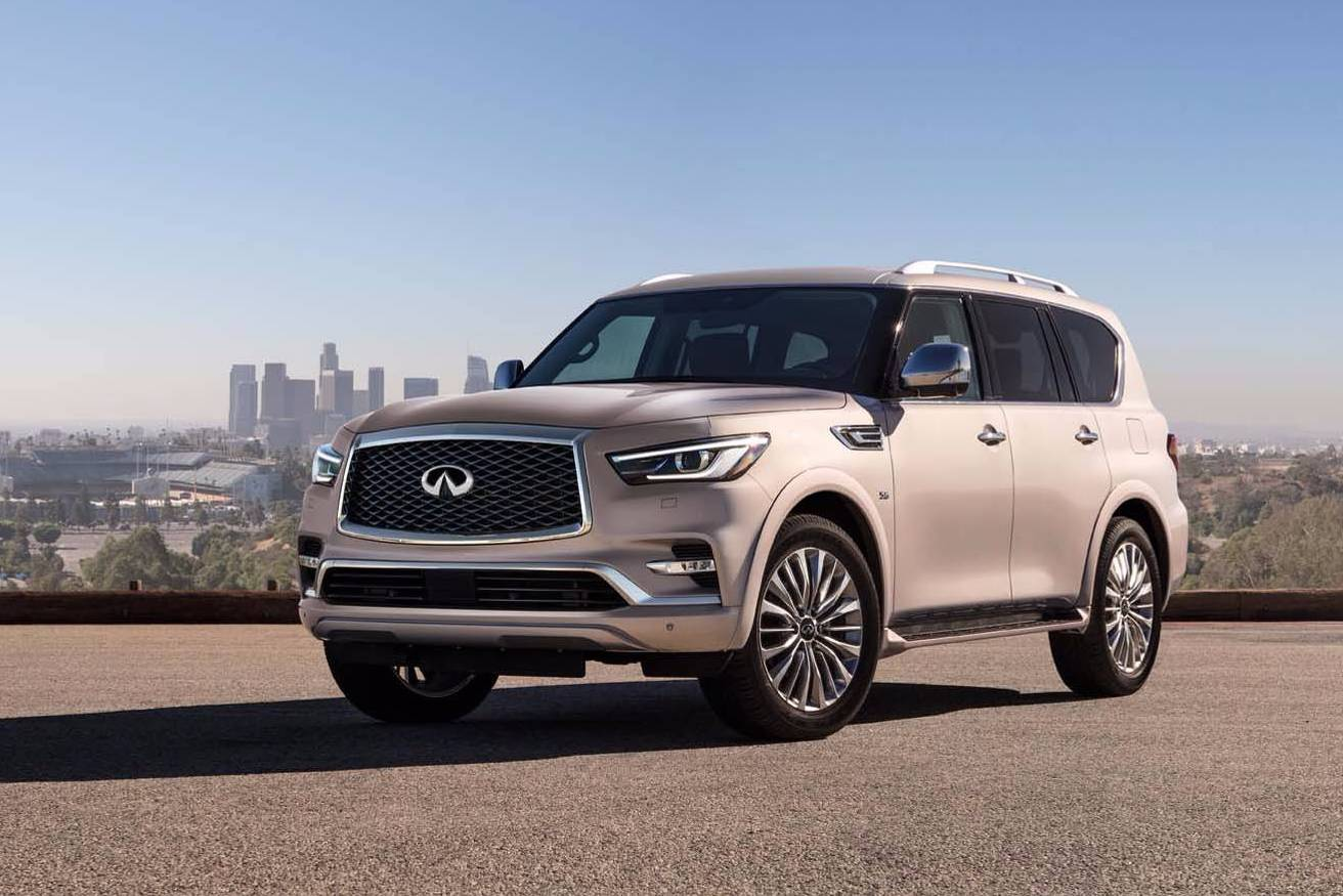 2018 infiniti qx80 revealed gets more refined look. Black Bedroom Furniture Sets. Home Design Ideas