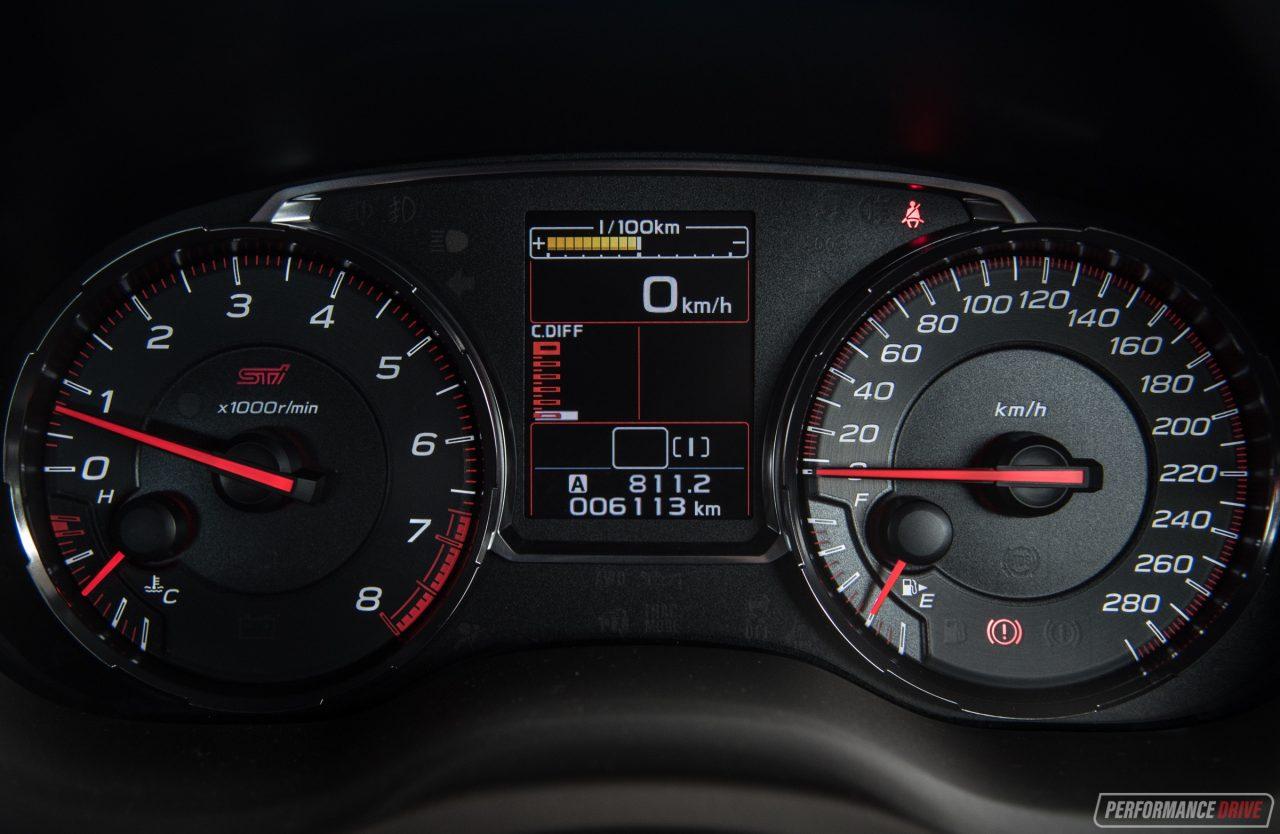 2018 Subaru WRX STI-instrument cluster