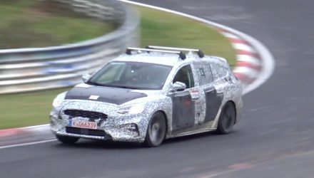 2019 Ford Focus spied on Nurburgring, ST wagon? (video)