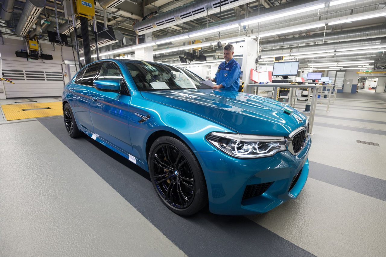 2018 bmw m5 production commences in germany performancedrive. Black Bedroom Furniture Sets. Home Design Ideas