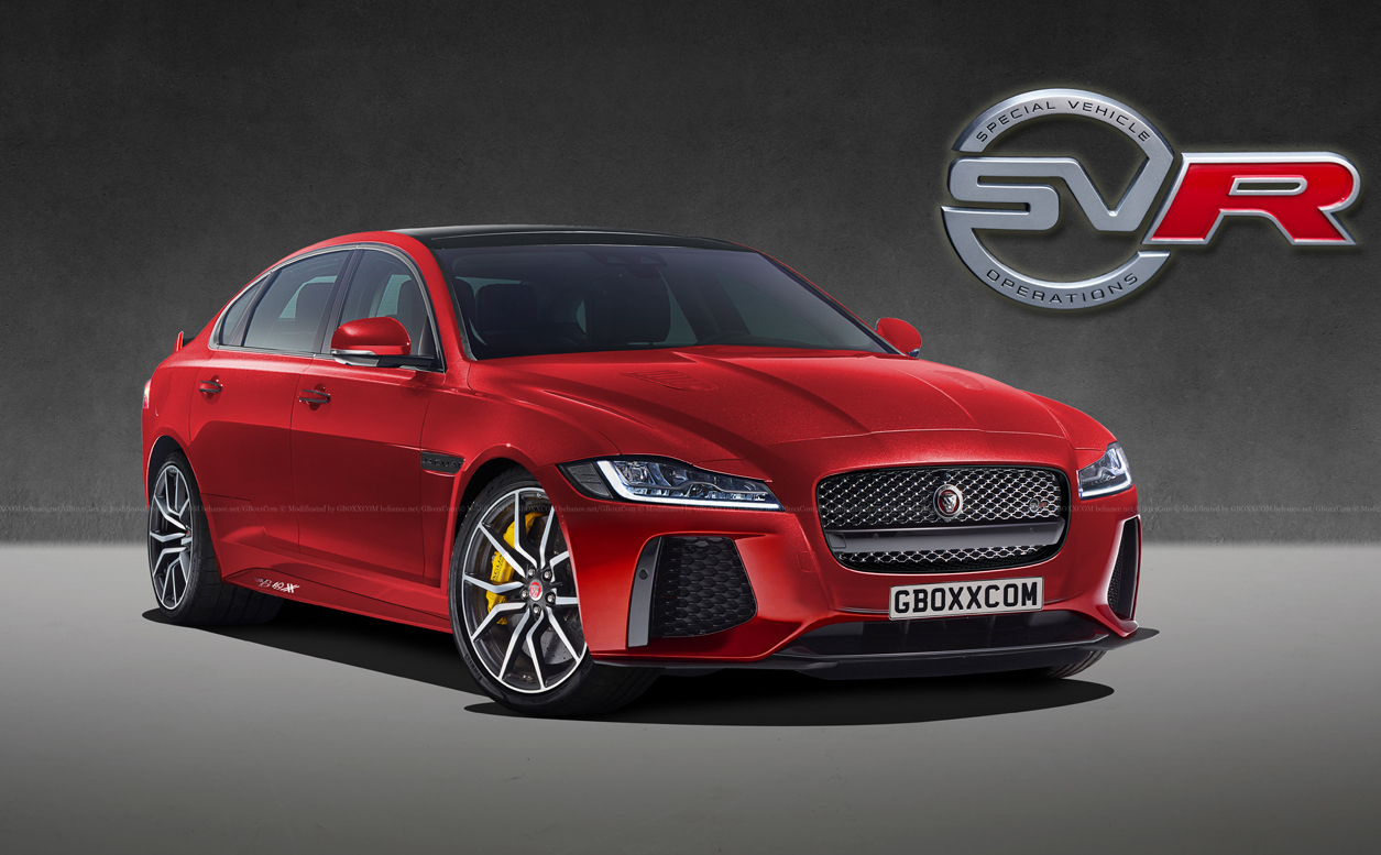 jaguar xf svr rendered perfect bmw m5 rival performancedrive. Black Bedroom Furniture Sets. Home Design Ideas