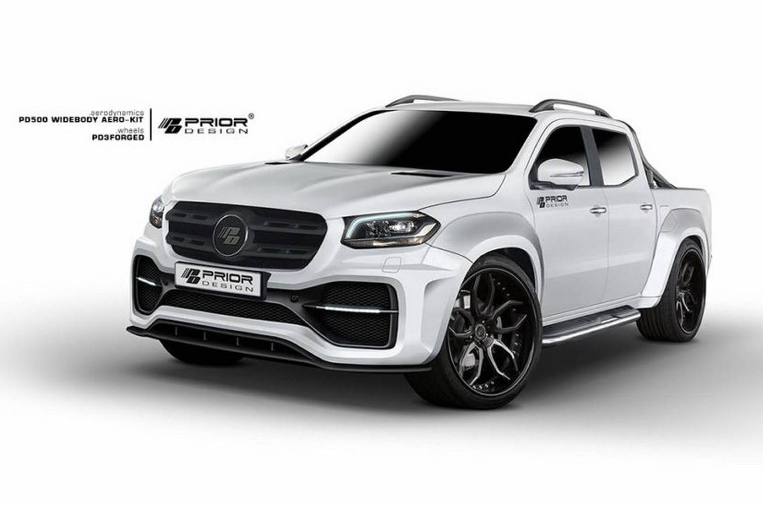 Prior design develops wide body kit for mercedes x class for Mercedes benz body kit