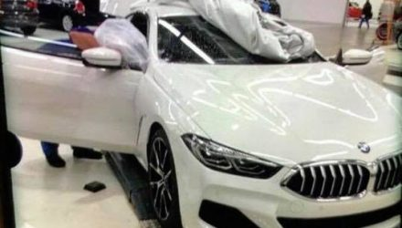 2018 BMW 8 Series spied at factory, with 850i badge