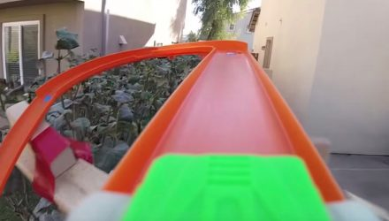 Video: On-board ride on epic Hot Wheels car track