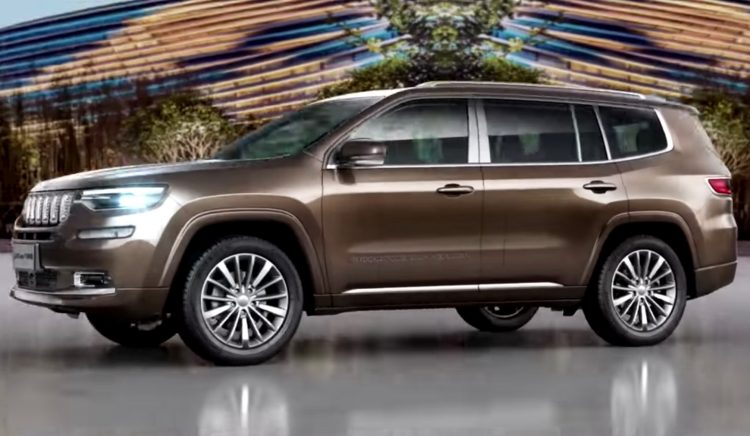 Jeep Grand mander revealed as new 7 seat SUV for China