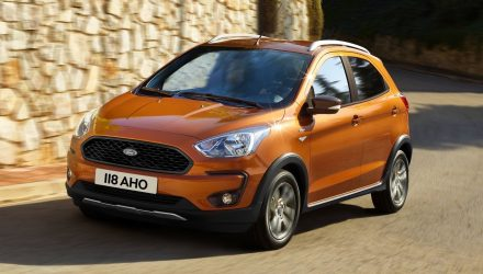 2018 Ford KA+ revealed, Active crossover added