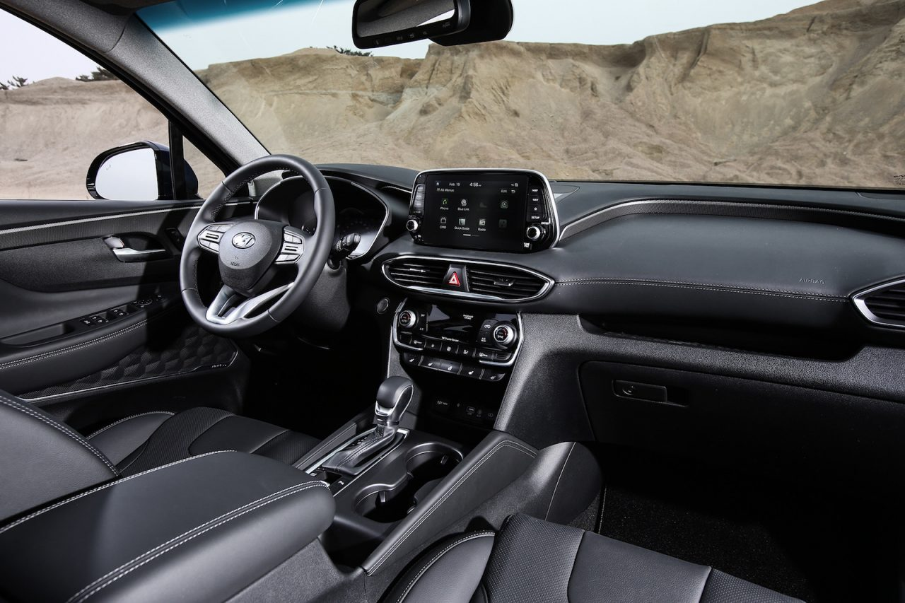 2019 hyundai santa fe unveiled gets new 8 spd auto - Santa fe hyundai interior pictures ...