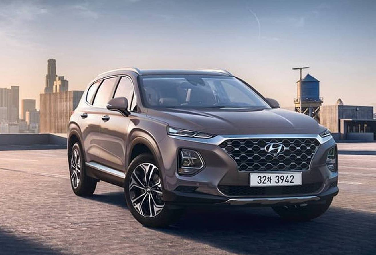 2019 hyundai santa fe revealed 2 0t for south korean market performancedrive. Black Bedroom Furniture Sets. Home Design Ideas