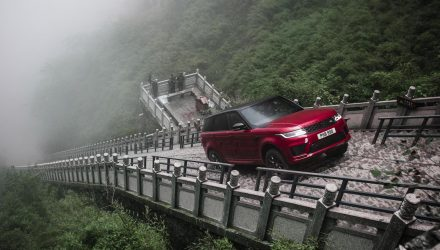 Range Rover Sport PHEV climbs 999 steps for new record